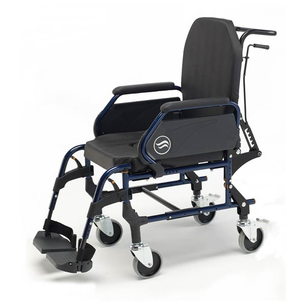 Breezy Home 3018A - Silla de ruedas fija de interior con respaldo reclinable